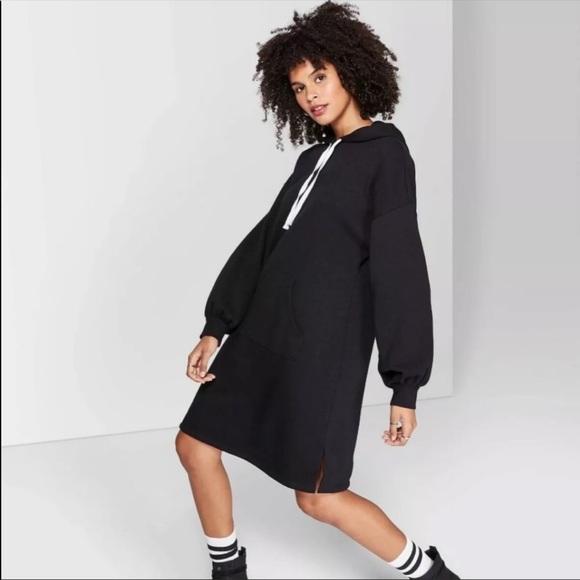 🖤 Wild Fable Black Hoodie Sweater Dress 🖤